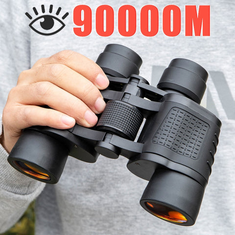 Binoculars 80X80 Long Range 90000m HD High Power Telescope Optical Glass lens Low light night vision for Hunting Sports scope