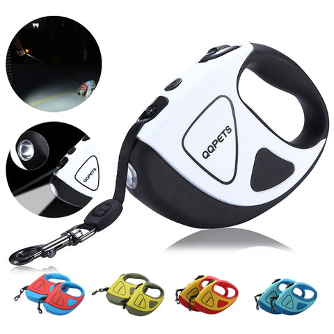 Pet Dog Automatic Retractable Fiber Leash Night Safety LED Shining Automatic Stretching Dog Hand Holding Rope Pet Supplies DL910