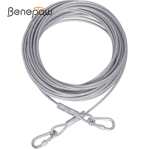 Benepaw Steel Wire Tie Out Cable Dog Leash Heavy Duty Reflective Trolley Training Lead For Large Dogs Up To 125kg Pet Runner