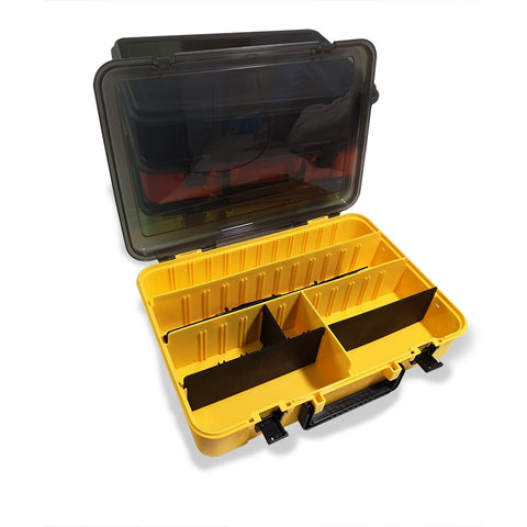 Multifunctional large-capacity fishing tackle box tool storage box single double-layer bait box portable fishing tackle storage