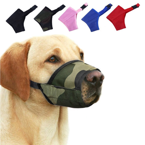 Adjustable Dog Mouth Muzzle Barking Nylon Anti Bark Bite Chew Training Products Pet Accessories Large Small Medium 7 Sizes