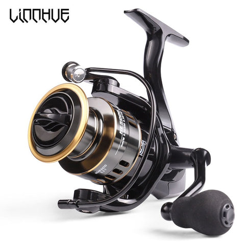 LINNHUE Fishing Reel HE7000 Max Drag 10kg 5.2:1 High Speed Metal Spool Spinning Reel Saltwater Reel carp Reel Fishing Send Line