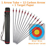 Huntingdoors 12/24Pcs Mixed Carbon Arrows 31.5inch TPU Feathers Diameter 7.8mm For Recurve/Compound Bow Hunting Archery Bow