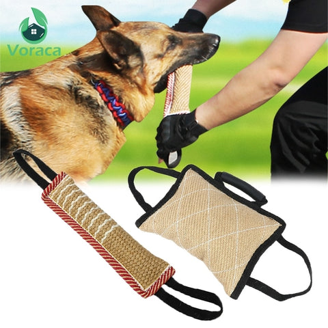 Durable Dog Training Bite Tug Pillow Sleeve with 2 Rope Handles for Training Malinois German Shepherd Rottweiler Pet Chewing Toy