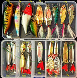 Hot Brilliant Metal Jig Spoon Fishing Lure Set 10/20/25/35pcs Wobblers Kit Pike Spoon Fishing Tackle Pesca Isca Artificial Bait