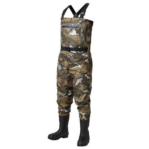 Bassdash Breathable Ultra Lightweight Veil Camo Chest Boot Foot Fishing Hunting Waders for Men in 13 Sizes