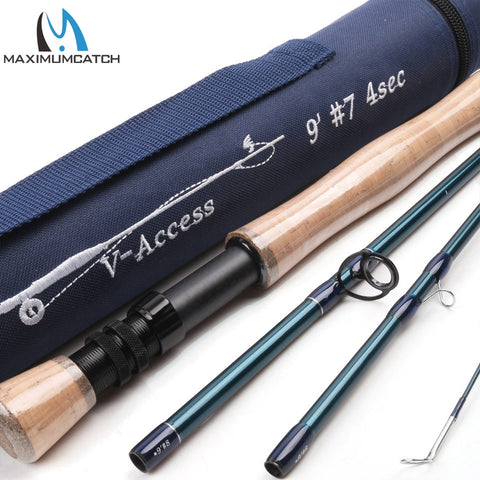 Maximumcatch V-access 3/4/5/6/7/8/9/10/12wt Fly Fishing Rod 8ft-10ft Carbon fiber Fast Action Fly Rod With Cordura Tube