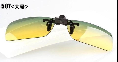 haoyu Al Mg alloy polaroid UV400 Clip sunglasses day and night Out door driving fishin g sun glasses for Optical frames
