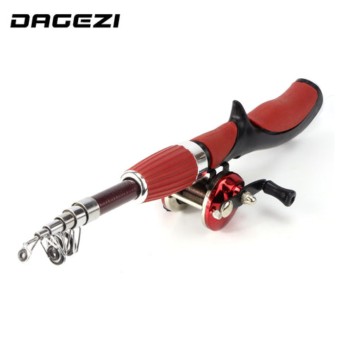 DAGEZI ice Fishing Rod + reel Spinning Fishing wheel ice Rod combo fishing tackle