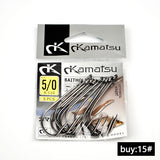 FISH KING 10 pcs/lot 1#-10# 5pcs/lot 11#15# Fishing Barbed Hook From Japan Bait Holder Fishing Hooks Carp Fishhook