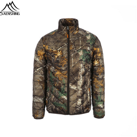 Camouflage Hunting Jacket Men Duck Down and Parka Winter Men's Fishing Jacket Windrproof Warm Outdoor Sport Hunting Clothes