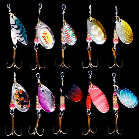 Spiner Metal Lures 5pcs Fishing Lures Hard Bait Fresh Water Bass Walleye Crappie Minnow Fishing Tackle