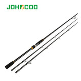 Carbon Rod 2.4m Spinning Fishing rod Extra-Fast Action M MH 2 Tips Test 10-40g Sensitive Fishing pole High Quality Johncoo