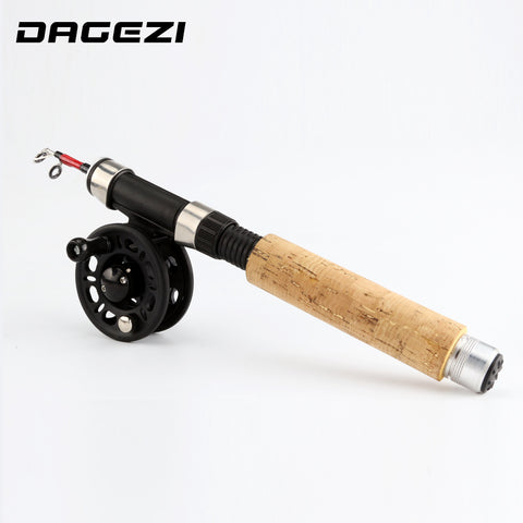 DAGEZI winter ice Fishing Rod + reel Spinning Fishing wheel ice Rod combo fishing tackle Fly Fishing Reel Kit Combo