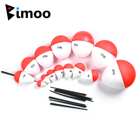 10PCS 0.8g ~ 60g Hard Foam Bobber Float Oval Saltwater Fresh Water Bulegill Carp Trout Inline Vertical Fishing Floats