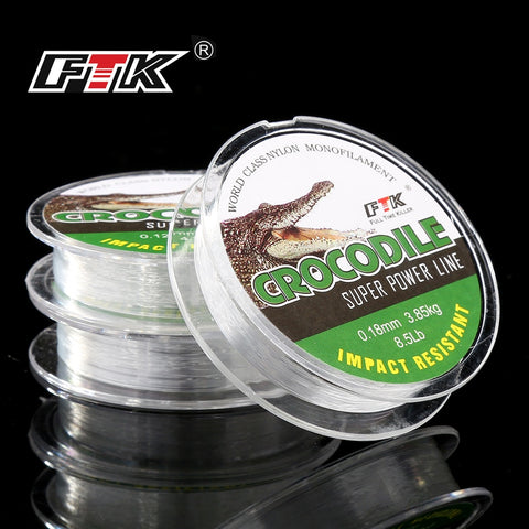FTK Ice Fishing Nylon Line 0.08MM-0.25MM 2.9-12.5LB 1.3kg-5.7kg Fishing Line peche accesoires
