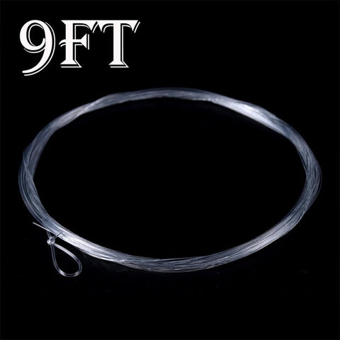 Maximumcatch 10 pcs 9FT Fly Fishing Leader 3/4/5/6X Clear Tapered Leader Nylon Leader With Loop