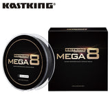 KastKing Brand Mega 8 274M 8 Strand Japan PE Braided Fishing Line Multifilament Fishing Wire for All Fishing 10-80LB