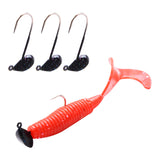 Fishing hook 5pcs 1.6g 2.5cm Barbed Lead Jig Head hook for Worm Soft Bait Jigging hooks Carp Fishing Accessories Tackle