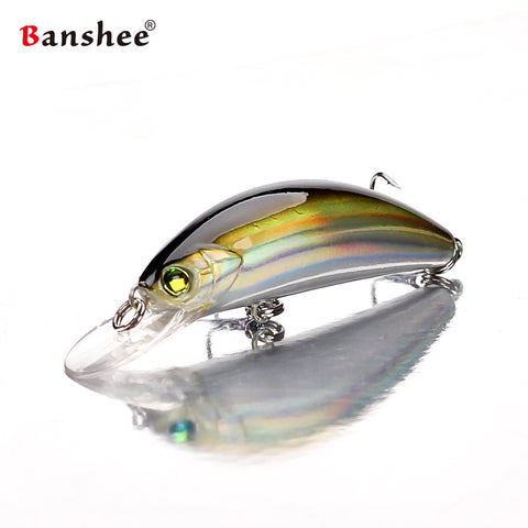 Banshee 45mm 4.7g floating Fishing Lures  GO-CM001 for Trout Bass Small Shallow Diving Crankbait Hard Artificial Bait