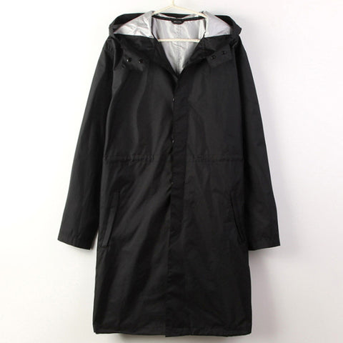 Black/Blue cloak Raincoat Men waterproof long fishing Rain Coat Men Ponchos Jackets  Chubasqueros Impermeables capa de chuva