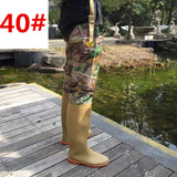 Adjust Height Strap Fishing Waders Thickening Waterproof PVC Material Soft Boots Outdoor Hunting Fish Fishing Waders Pant+Boot
