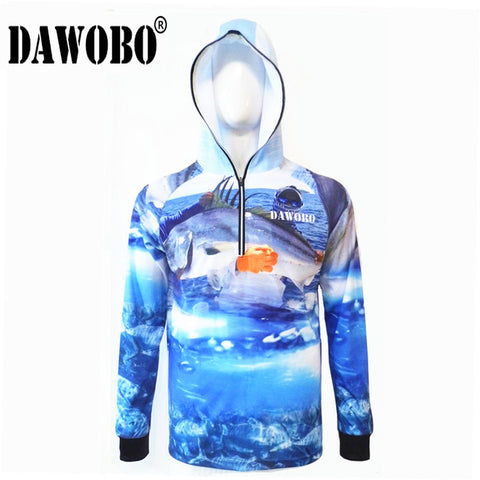 2018 NEW DAWOBO Men/Women fishing shirt outdoor sportswear fishing Anti UV jersey fishing tackles angler sports clothing