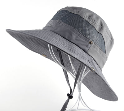 Sun Hat men Bucket Hats women Summer Fishin Cap Wide Brim UV Protection Flap Hat Breathable mesh bone gorras Beach hat men