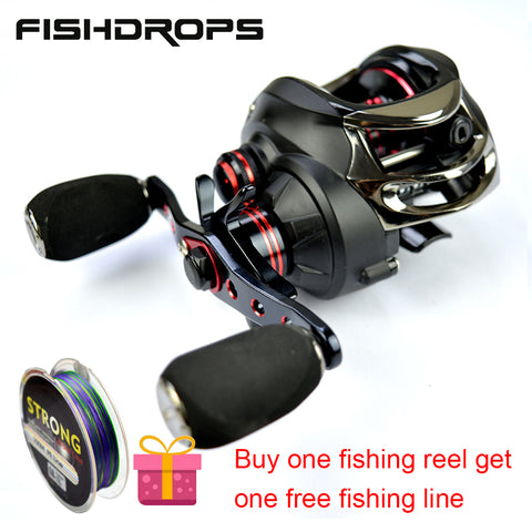 Hot Sale! Fishdrops New Baitcasting Reel Gear Ratio 7.0:1 Bait Casting Bass Fishing Wheel Cat Fish Cast Reel