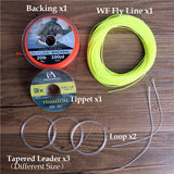 Maximumcatch 100FT 1-10wt Fly Fishing Line Combo Weight Forward Floating Fly Line & Backing line&Tippet&Leader&Loop Connector