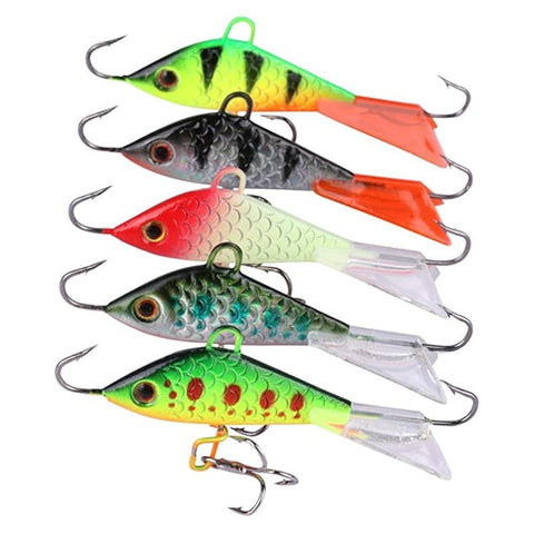 Goture Snap Winter Ice Fishing Lure Jig Balancers Vertical Jigging Bait For Saltwater Game Fish,Walleye,Panfish