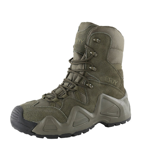 Outdoor Sports High Tops Tactical Boots Spring Autumn Men Women Military Training Climbing Camping Hunting Antiskid Hiking Shoes