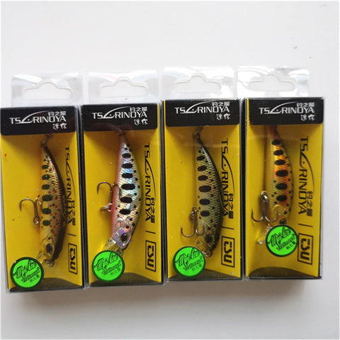 Tsurinoya 4PC 50mm 5g Sinking Minnow Artificial Bait for Trout Bass Fishing Wobbler Laser Hard Long Cast Fishing Lure DW63