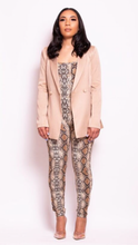 Load image into Gallery viewer, Snakeskin jumpsuit