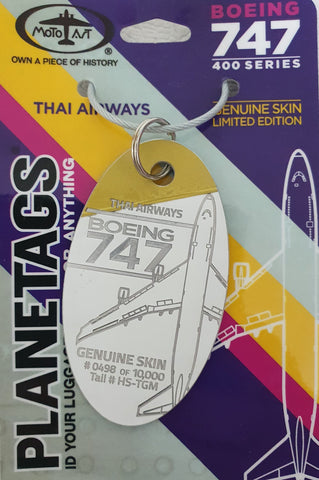 BOEING THAI AIRWAYS 747 PLANETAG TAIL #HS-TGM - PARTIAL COMBOS