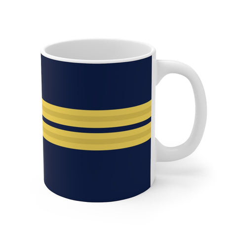 PILOT 2 GOLD STRIPES MUG