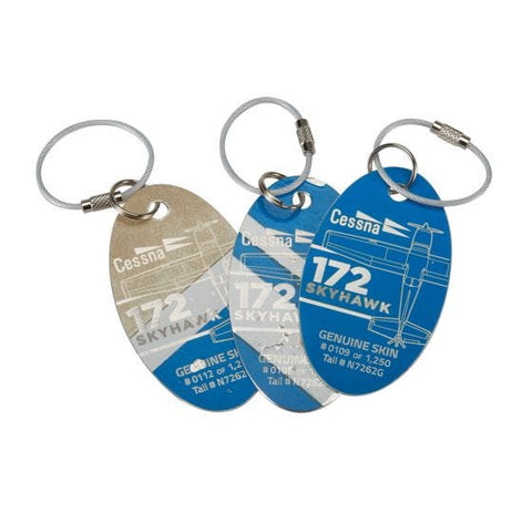 Cessna 172 PlaneTag® by Sporty - White