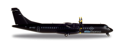 1:200 Alsie Express ATR-72-500 - All Black- Premium Metal Diecast