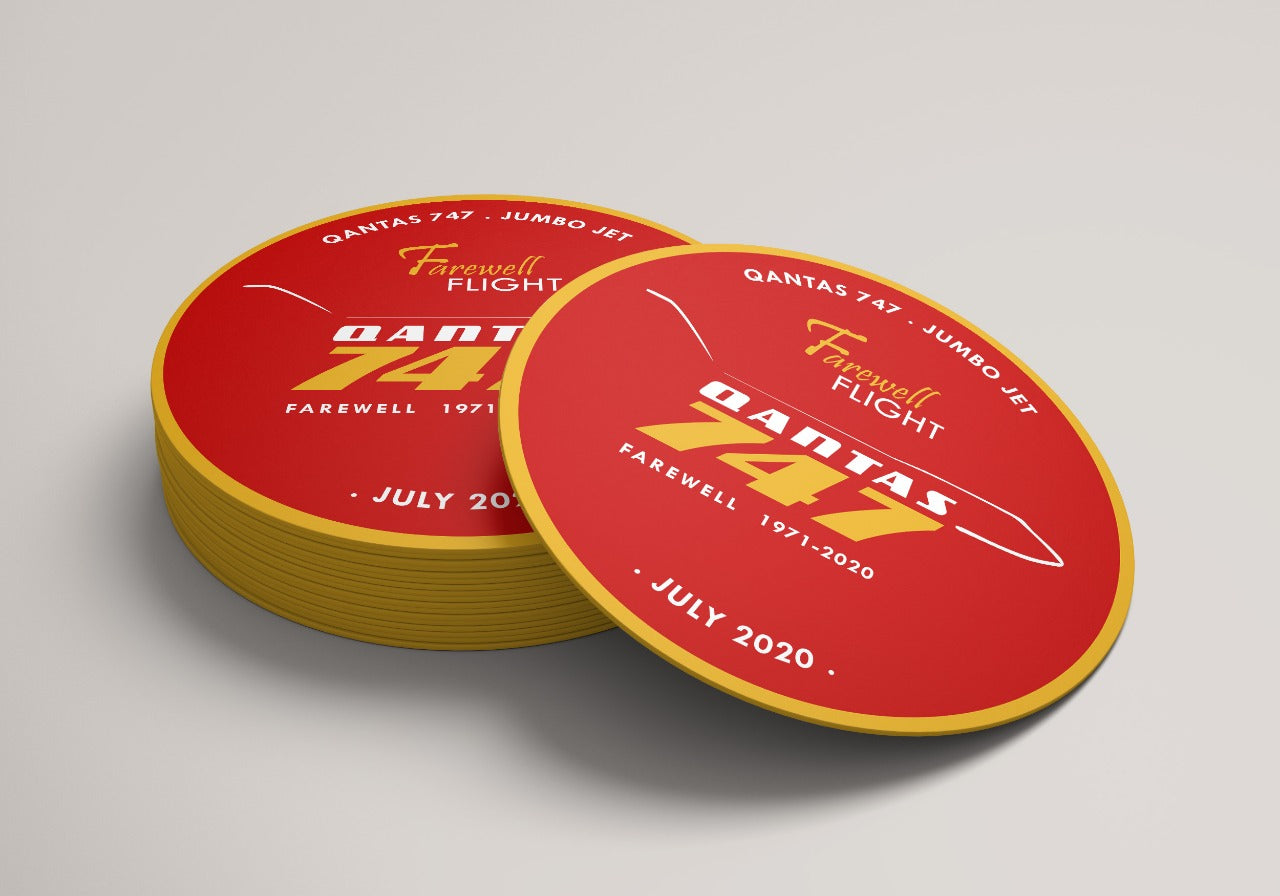Qantas 747 Farewell Coasters - Coffee/Tea/Drinks