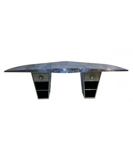 AVIATOR DOUBLE WING OFFICE DESK ALUMINIUM