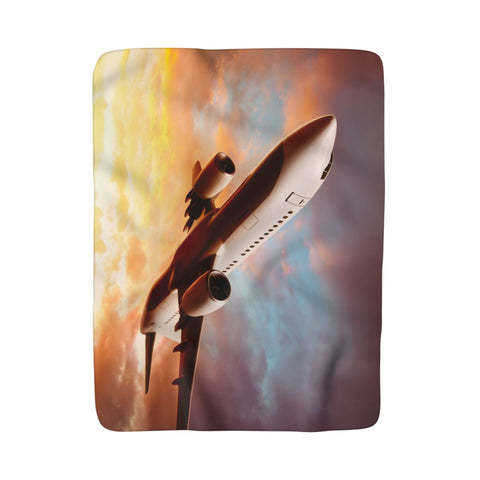 Sherpa Fleece Blanket Boeing 737