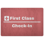 FIRST CLASS CHECK IN DOORMAT