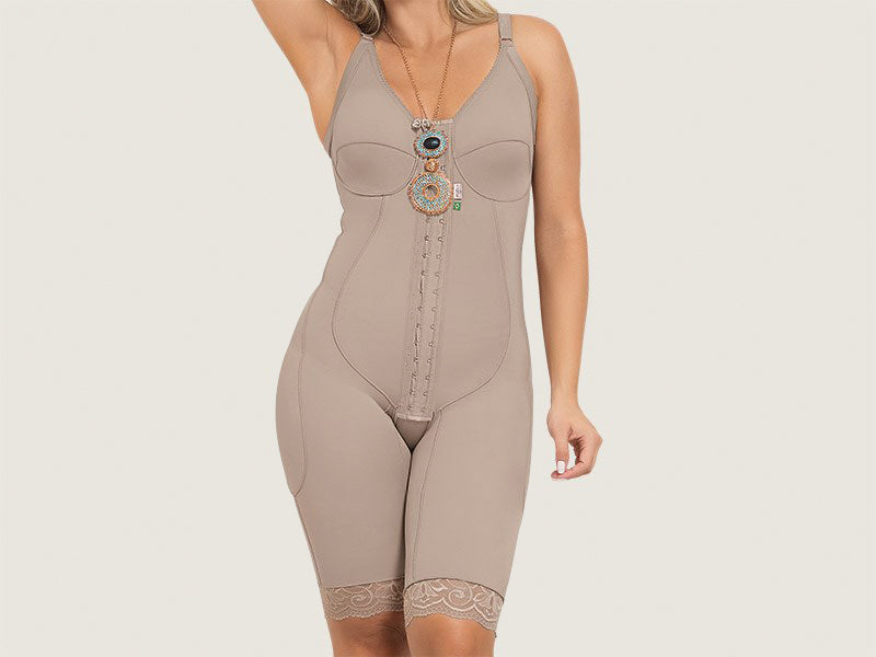 b231315311ae0 Model 4006 - Lovely Invisible Firming Toning Post-Operative Full Bodysuit  Shaper w