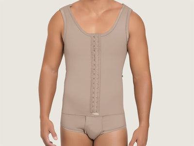 Model 4018C - Supreme Invisible Post-Op Slimming/Toning Torso/Abs Bodysuit Shaper w/ Briefs