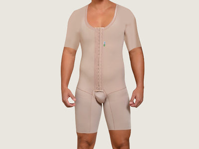 Model 4026CM - Invisible Post-Op Toning Full Bodysuit Shaper with Sleeves, Posture Support & Thigh Slimmer