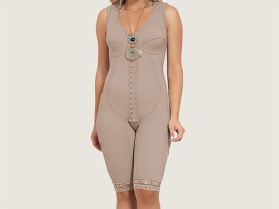 Model 4030 - Delightful Slenderizing/Firming Post-Operative Full Bodysuit Shaper w/Thighs Slimmer