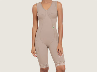 Model 4044 - Graceful Invisible Slenderizing Bodysuit Shaper With Thighs Slimmer