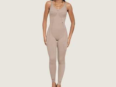 Model 4045 - Delightful Invisible Firming And Toning Full Bodysuit Shaper w/Thighs/Leg Slimmer