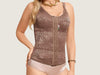Model 4048R - Fabulous Lace Slimming And Toning Camisette w/Adjustable Straps