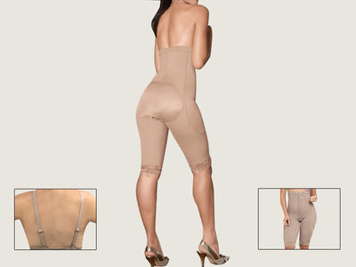 Model 4086C - Indiscernible Firming And Toning Post-Op Brazilian Butt Lift Body Shaper w/Hook & Eye and Adjustable Straps